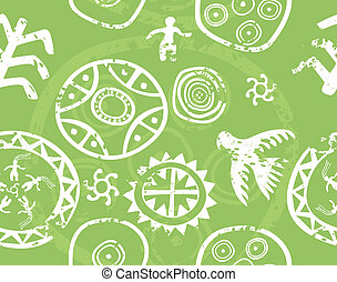 Tribal seamless vector texture - immitation of ancient rock...