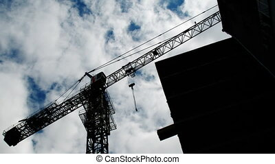 Construction crane working 2