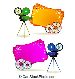 Film frames with camera