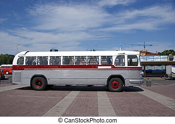 The old bus - The long-distance bus of the middle of the...