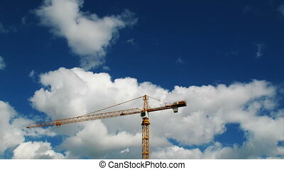 Construction crane working 1 - Construction crane working,...