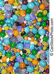 semi precious stones - Texture from the different semi...