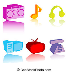 Colored electronic gadgets