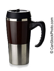 Coffee thermos mug - Travel metal coffee thermal mug...