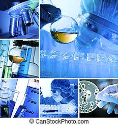 laboratório, colagem
