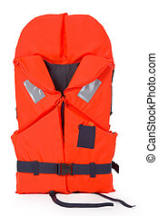 Lifejacket - Orange life jacket for water activities -...