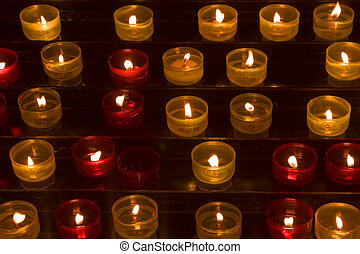 Long numbers of candles - Candles in memory about died in a...