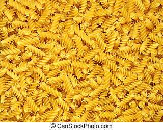Dry pasta spirales. - Dry pasta spirales suitable as...