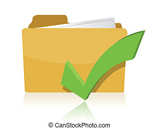 Yellow computer folder on white background Isolated 3d image...