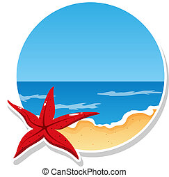 Beach - Vector picture with beach and sea