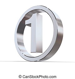 Shiny Circle - Number 1 - shiny 3d number 1 made of...