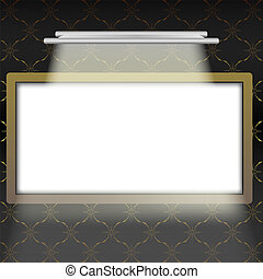 Empty Frame in Interior - Illustration of Empty Illuminated...