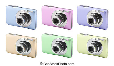 Compact digital camera with clipping path
