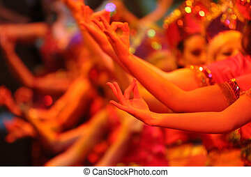 bollywood abstract - bollywood dancing colourful hand...