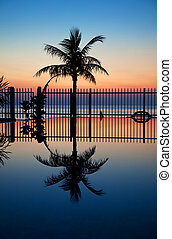 Sunset and infinity pool - Stunning sunset with a reflection...