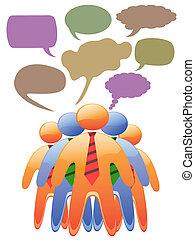 social symbol people talk in color