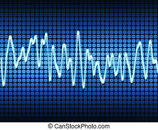 azul, sonido, seno, electrónico, onda