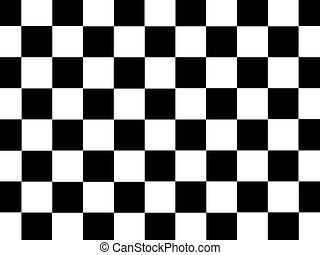 Checkered Illustration - A checkered illustration isolated...