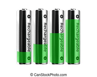 Rechargable Batteries - Rechargable batteries isolated...