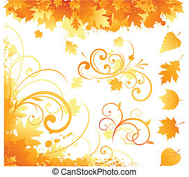 autumn items - autumn floral pattern