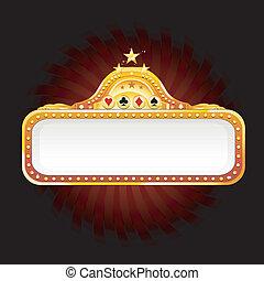 casino sign - golden casino sign