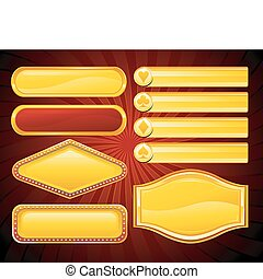 Casino banner - vector casino sign collection
