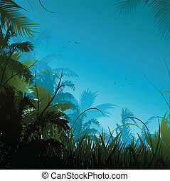 Jungle background - jungle background illustration