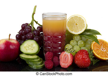 Fruits and cucumber juice