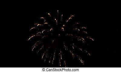 Sky in fireworks