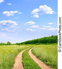 Rural landscape - Rural summer landscape with old road