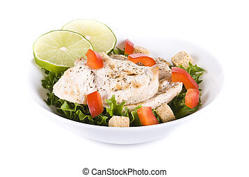 Chicken and vegetable salad - Fresh chicken and vegetable...