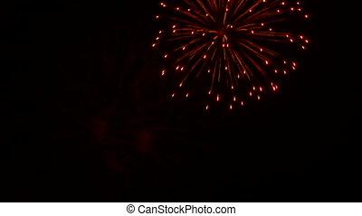 Merry festive fireworks