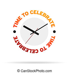 Time To Celebrate Clock