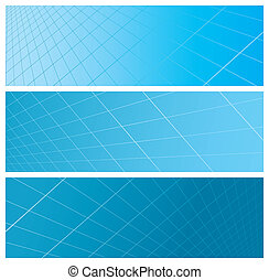 abstract grid banners, vector illustration