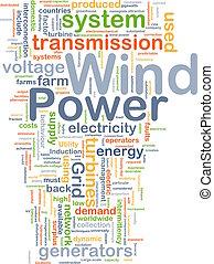 Wind power background concept