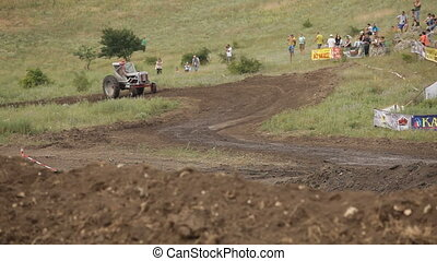 Tractor on the racetrack - Off-road racing in special sports...
