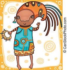 Ethnic girl 1.