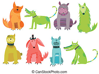 Colorful dogs