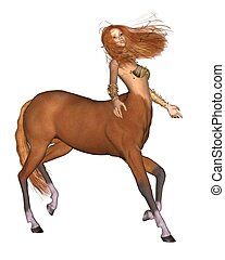 Female Centaur - Female centaur, 3d digitally rendered...