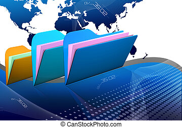 File folder - Digital illustration of 3d file folder in...