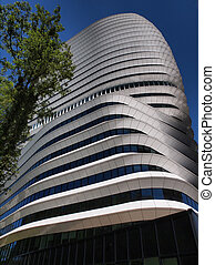 Tax Authorities office Groningen Netherlands - Tall modern...