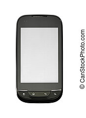 Smart phone - Studio photo of new smart phone, isolated on...
