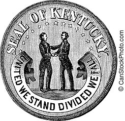 Seal of the State Kentucky vintage engraving