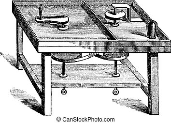 Lapidary Table vintage engraving
