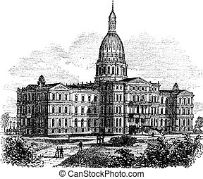 Michigan State Capitol Building Lansing, United States...