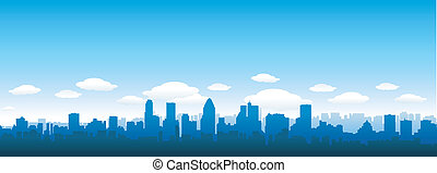 City skyline - city skyline at day