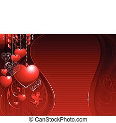 valentine background - red horizontal love valentine...