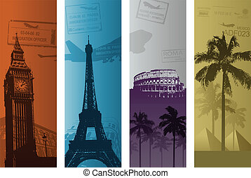 travel background - vertical travel banners