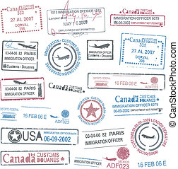 passport stamps collection