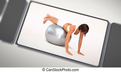 Montage of women exercising